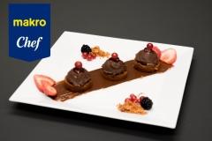 Tarte de Mousse de chocolate com geleia de Frutas vermelhas